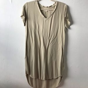 Cloth & Stone V Neck High Low Tunic Dress